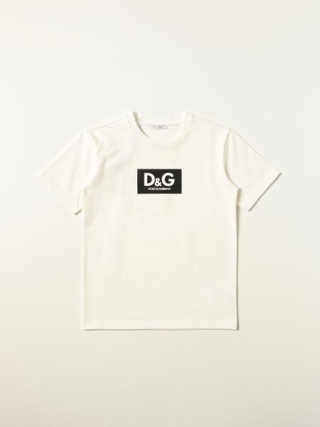 Dolce & Gabbana kids: Dolce & Gabbana cotton t-shirt with logo