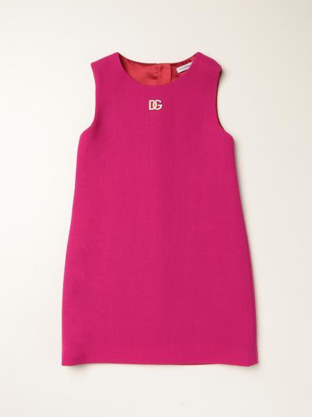 Dolce & Gabbana cotton blend dress with DG logo