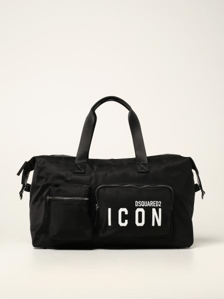Borsone Dsquared2 in nylon con logo Icon