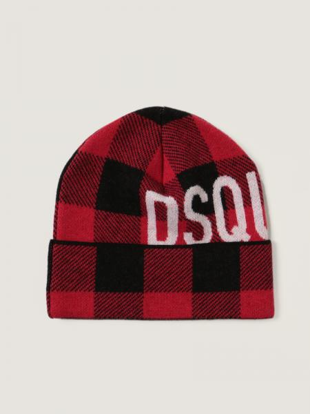 Dsquared2 men: Dsquared2 beanie hat in check wool