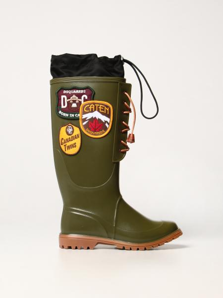 Dook Dsquared2 Rubber Rain Boots with patch