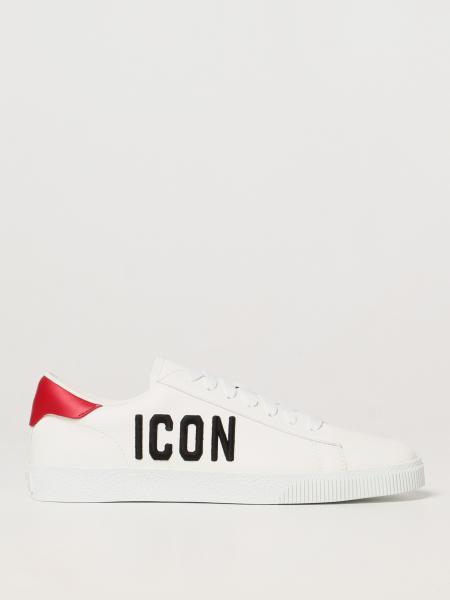 Dsquared2 uomo: Sneakers Icon Dsquared2 in pelle con logo