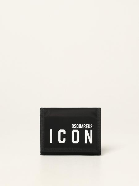Dsquared2 men: Dsquared2 nylon wallet with Icon logo