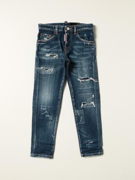 Jeans a 5 tasche Dsquared2 Junior con rotture