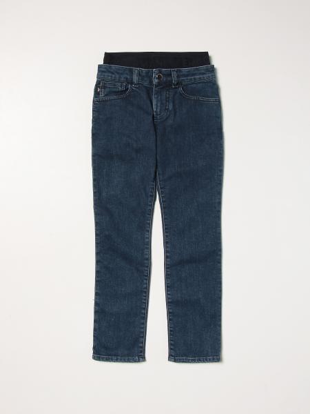 Jeans Emporio Armani in denim con fascia elasticizzata