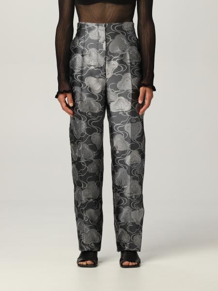 Giorgio Armani: Giorgio Armani trousers in silk with jacquard embroidery