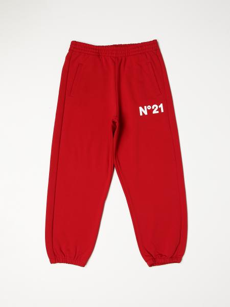 N ° 21 jogging pants with rubberized logo