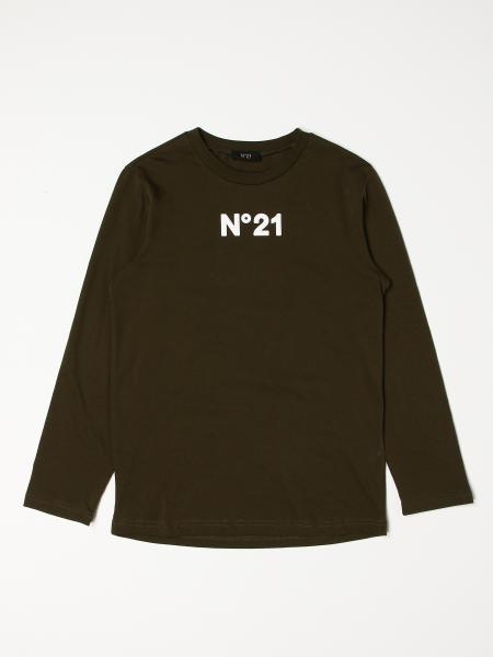 N° 21: Stretch cotton N ° 21 T-shirt with logo