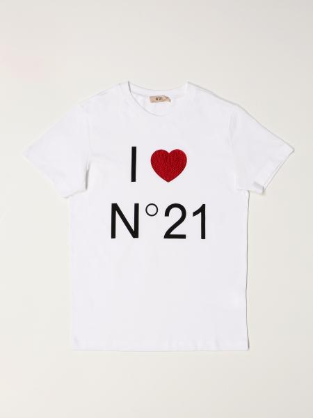N° 21: N ° 21 cotton T-shirt with logo