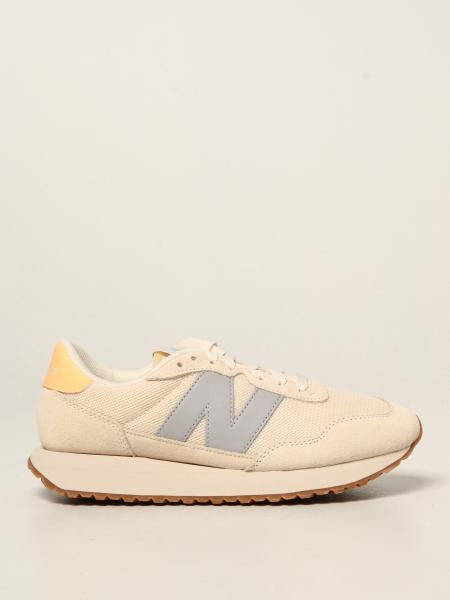 New Balance: 237 suede and mesh trainers with big n