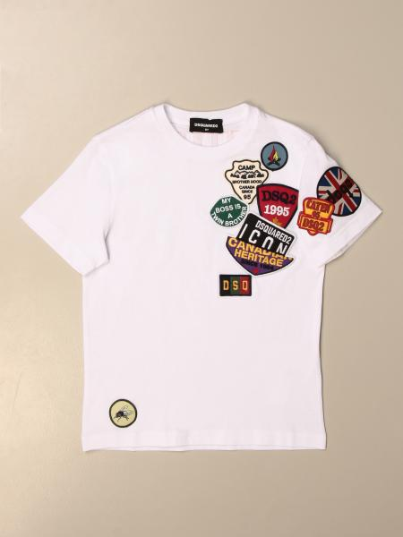 Dsquared2 Junior T-shirt in cotton with patches
