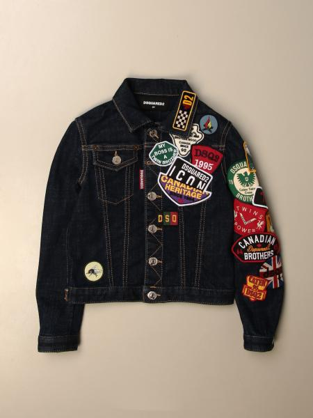 Giacca di jeans Dsquared2 Junior con patches