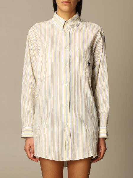 Etro women: Etro striped poplin shirt
