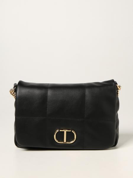 Twin-set bag in synthetic leather with logo