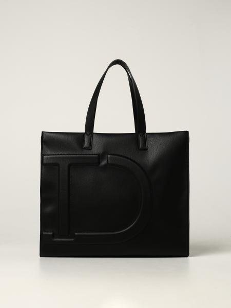 Twin-set tote bag in ecological leather