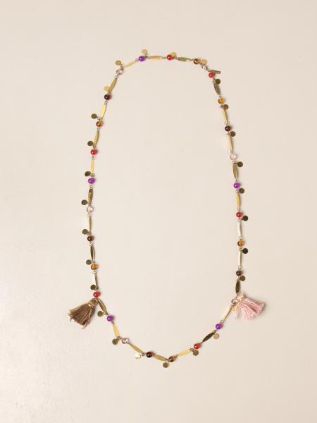 Allujewels: Collana Foglioline Allu' jewels in metallo dorato
