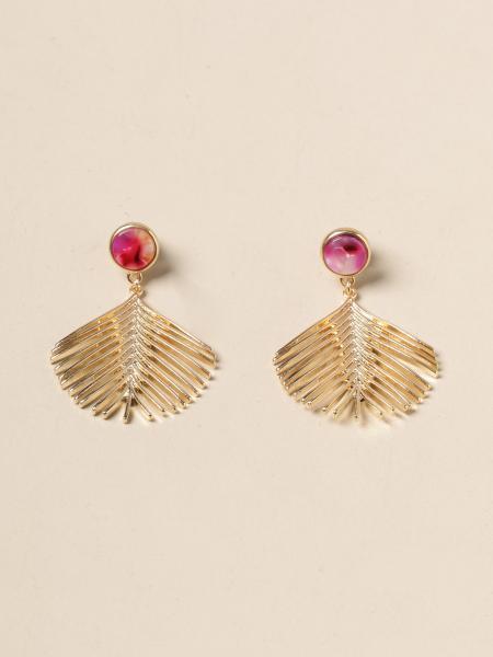 Allujewels: Orecchini foglia Allu' jewels in metallo dorato