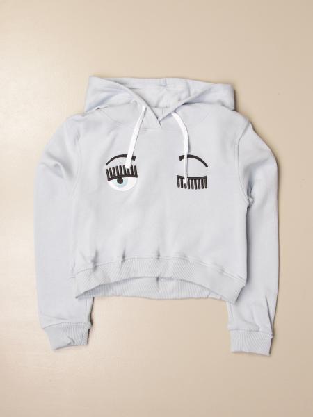 Chiara Ferragni sweatshirt with flirting eyes logo
