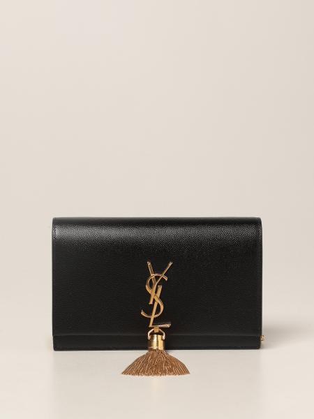 Borsa Kate Saint Laurent in pelle grain de poudre