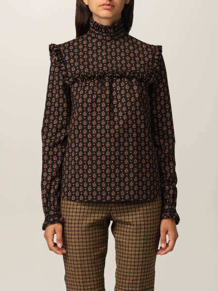 Blusa Saint Laurent in étamine di lana