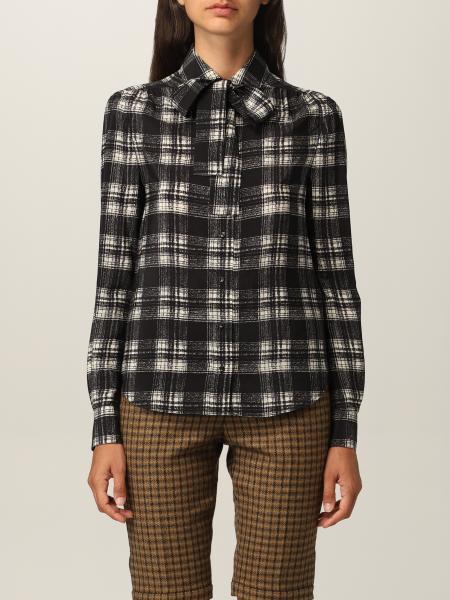 Camicia Saint Laurent in crêpe a quadri