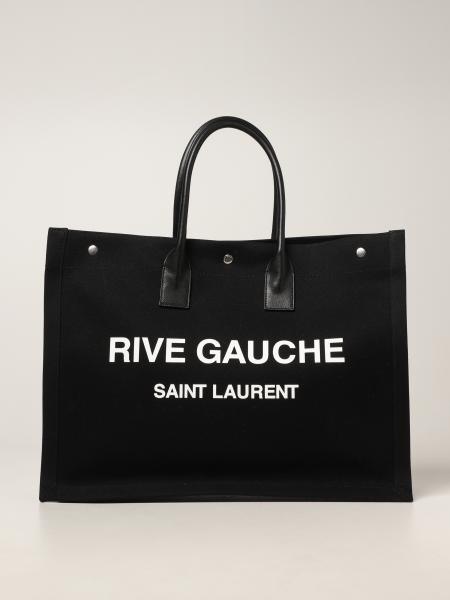 Borsa Tote Rive Gauche Saint Laurent in canvas