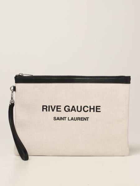 Pochette Rive Gauche Saint Laurent in canvas