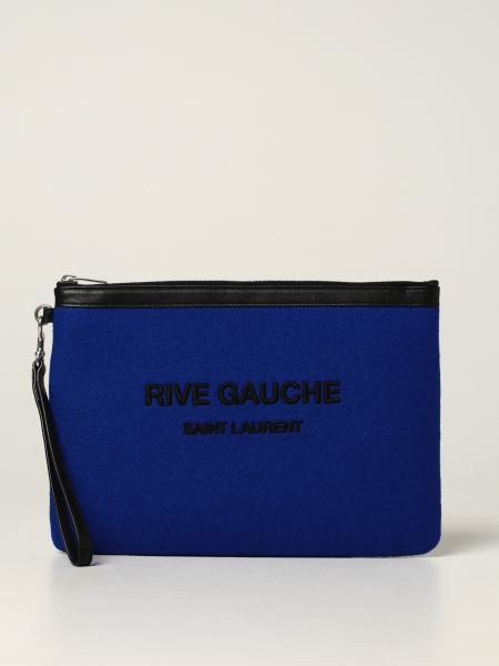 Pochette Rive Gauche Saint Laurent in feltro con logo