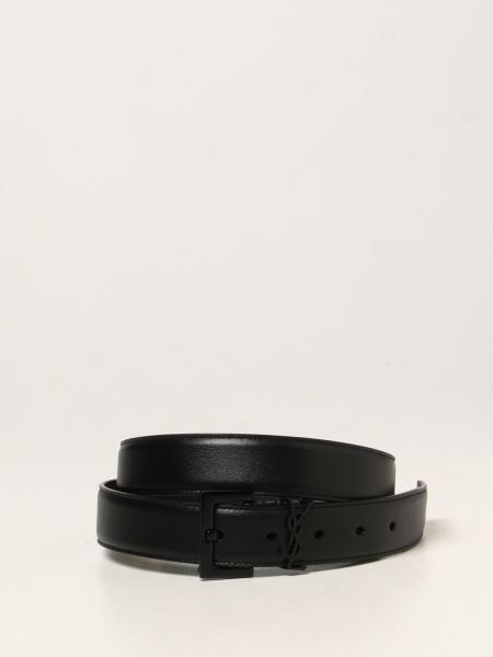 Saint Laurent men: Saint Laurent leather belt