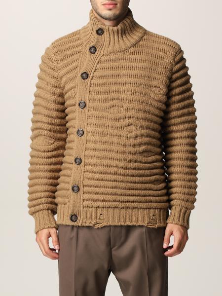 Cardigan Paolo Pecora in lana con nervature