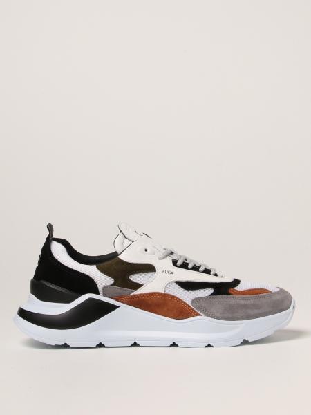 Sneakers Fuga D.A.T.E. in camoscio e mesh