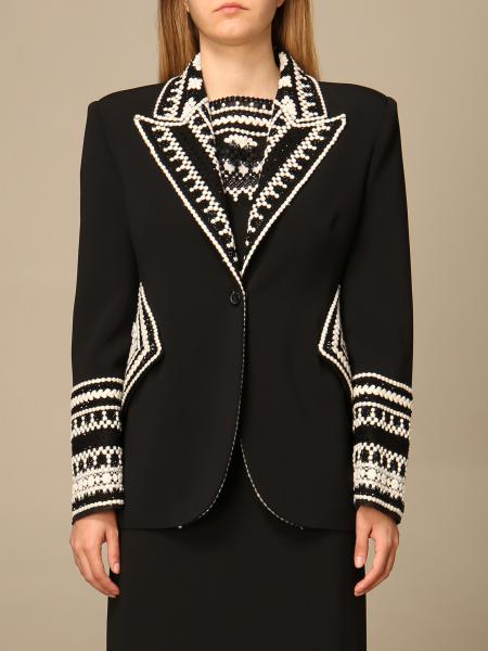 Ermanno Scervino single-breasted jacket with embroidered details
