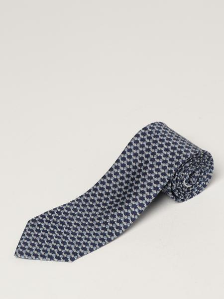 Salvatore Ferragamo: Salvatore Ferragamo silk tie with micro fish