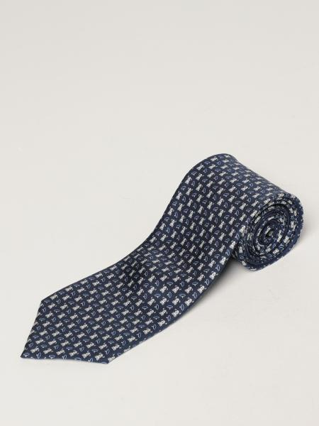 Salvatore Ferragamo: Salvatore Ferragamo silk tie with micro dogs
