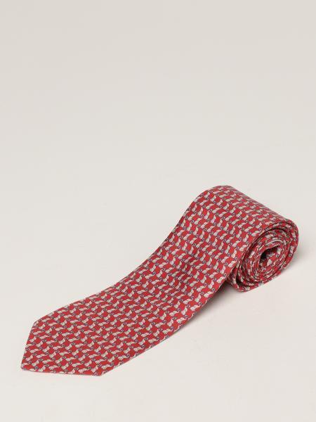 Salvatore Ferragamo: Salvatore Ferragamo silk tie with micro elephants