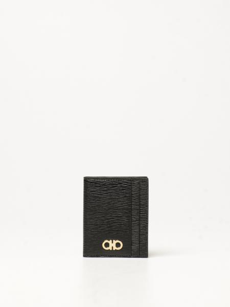 Salvatore Ferragamo Gancini credit card holder in leather
