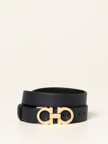 Salvatore Ferragamo: Salvatore Ferragamo Gancini reversible leather belt