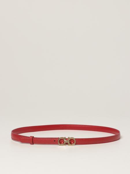 Salvatore Ferragamo Gancini belt in grained leather