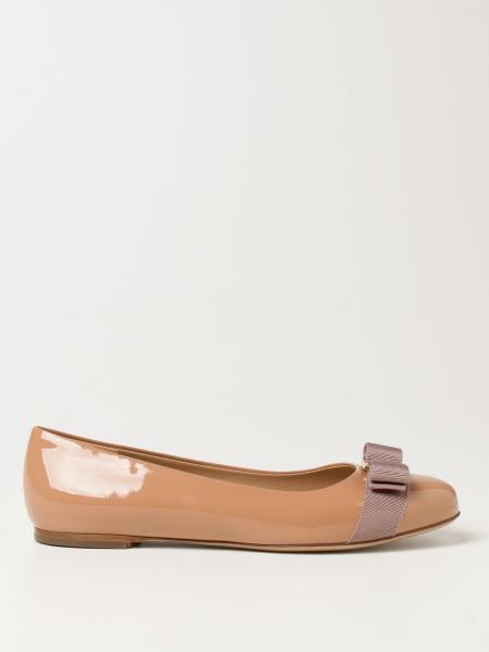 Varina Salvatore Ferragamo patent leather ballerina