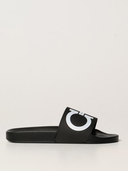 Groovy Salvatore Ferragamo rubber sandals with Gancini logo