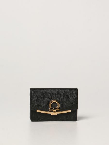 Salvatore Ferragamo Gancini business card holder in leather