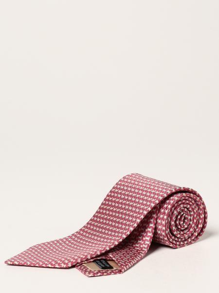 Salvatore Ferragamo silk tie with micro dogs