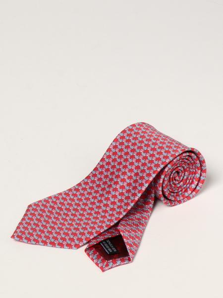 Salvatore Ferragamo silk tie with micro fish