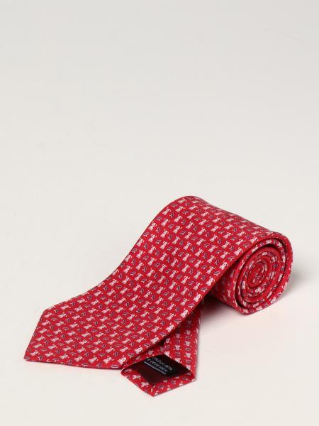 Salvatore Ferragamo silk tie with micro dogs and rings