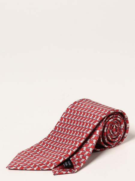 Salvatore Ferragamo silk tie with micro elephants