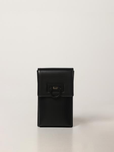 Salvatore Ferragamo Trifolio mobile phone holder in leather