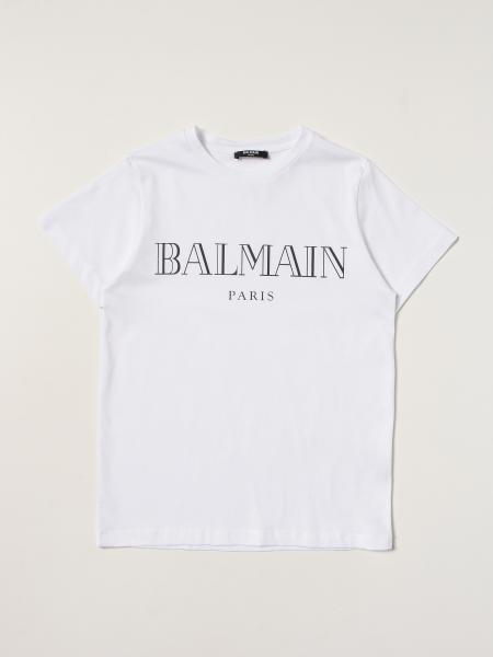 Balmain bambino: T-shirt Balmain in cotone con logo