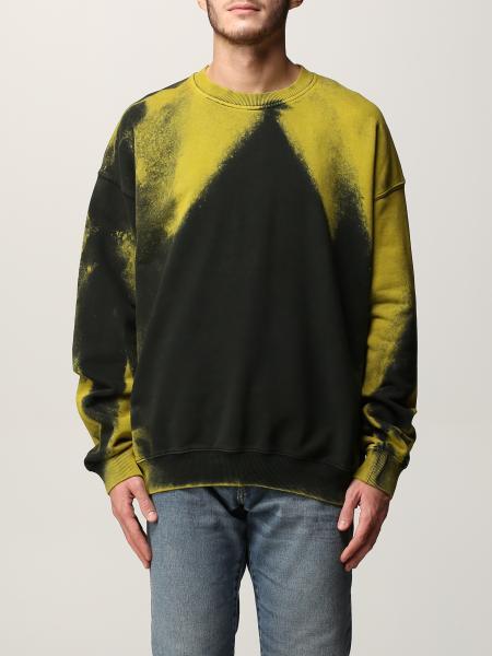 Diesel men: Diesel tie dye cotton sweatshirt