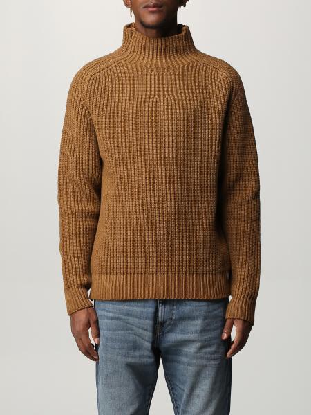 Diesel men: Diesel pullover in ribbed wool blend