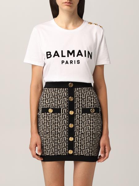 Balmain cotton t-shirt with logo
